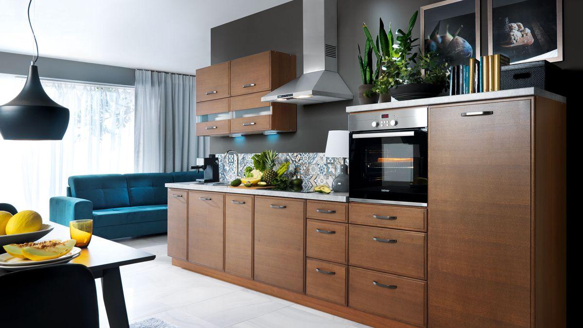 k che schr nke k chenzeile erweiterbar echtholz eiche. Black Bedroom Furniture Sets. Home Design Ideas