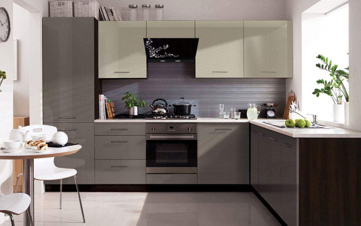 Küche Schränke Küchenzeile erweiterbar Anthrazit