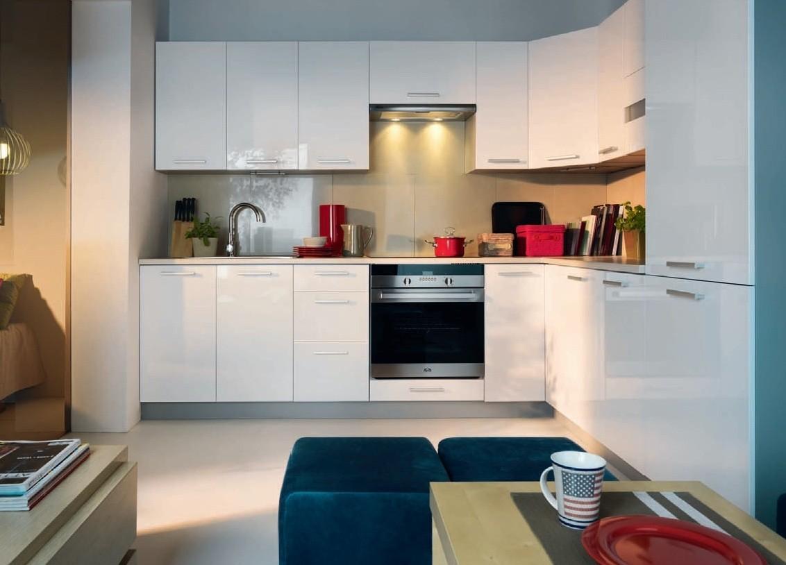 k che schr nke k chenzeile erweiterbar weisser glanz neu schnell ebay. Black Bedroom Furniture Sets. Home Design Ideas