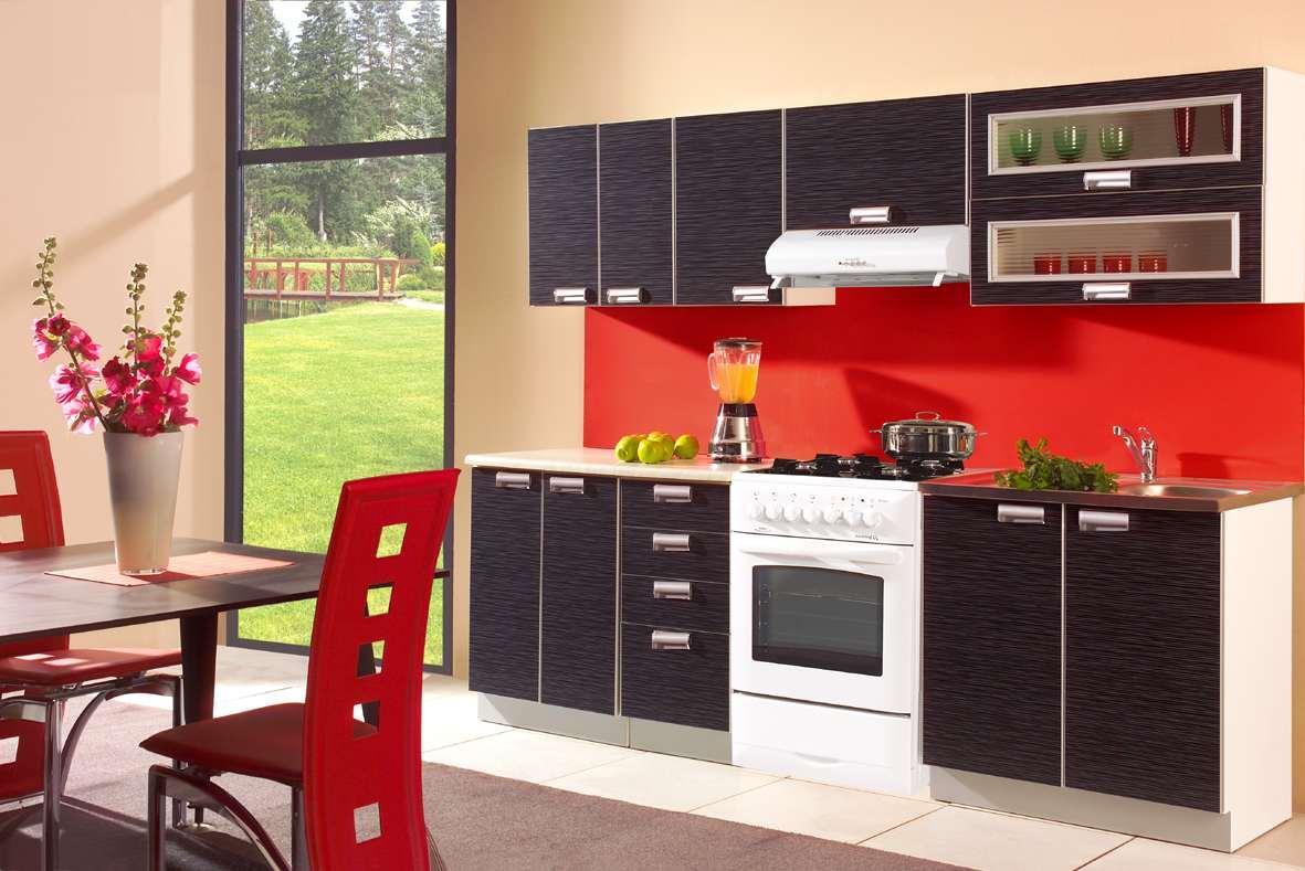 k che 240cm schr nke k chenzeile fronten surf black neu schnell ebay. Black Bedroom Furniture Sets. Home Design Ideas