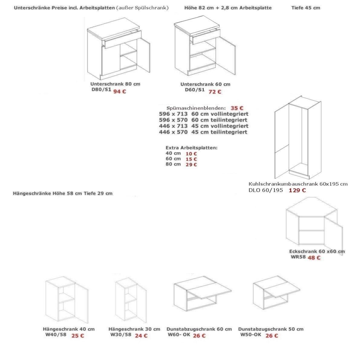 k che 240cm schr nke k chenzeile kastanie eiche neu schnell ebay. Black Bedroom Furniture Sets. Home Design Ideas