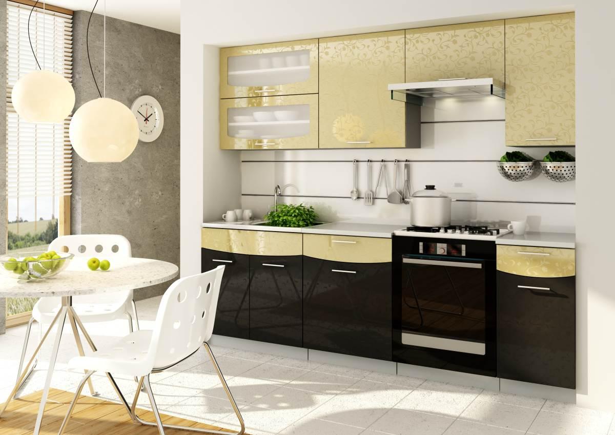 k che 240cm schr nke k chenzeile hochglanz fronten ausw hlbar neu schnnell ebay. Black Bedroom Furniture Sets. Home Design Ideas
