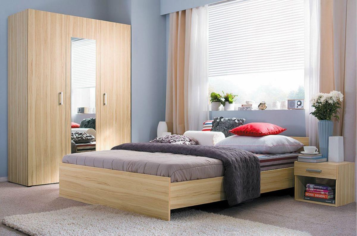 Schlafzimmer in 3 farben mit kleiderschrank bett und 2 Schlafzimmer farben