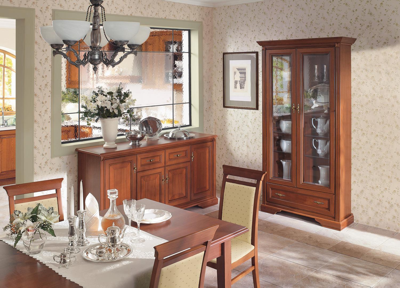 wohnzimmer wohnstube vitrine kommode anrichte in kirsche neu ebay. Black Bedroom Furniture Sets. Home Design Ideas