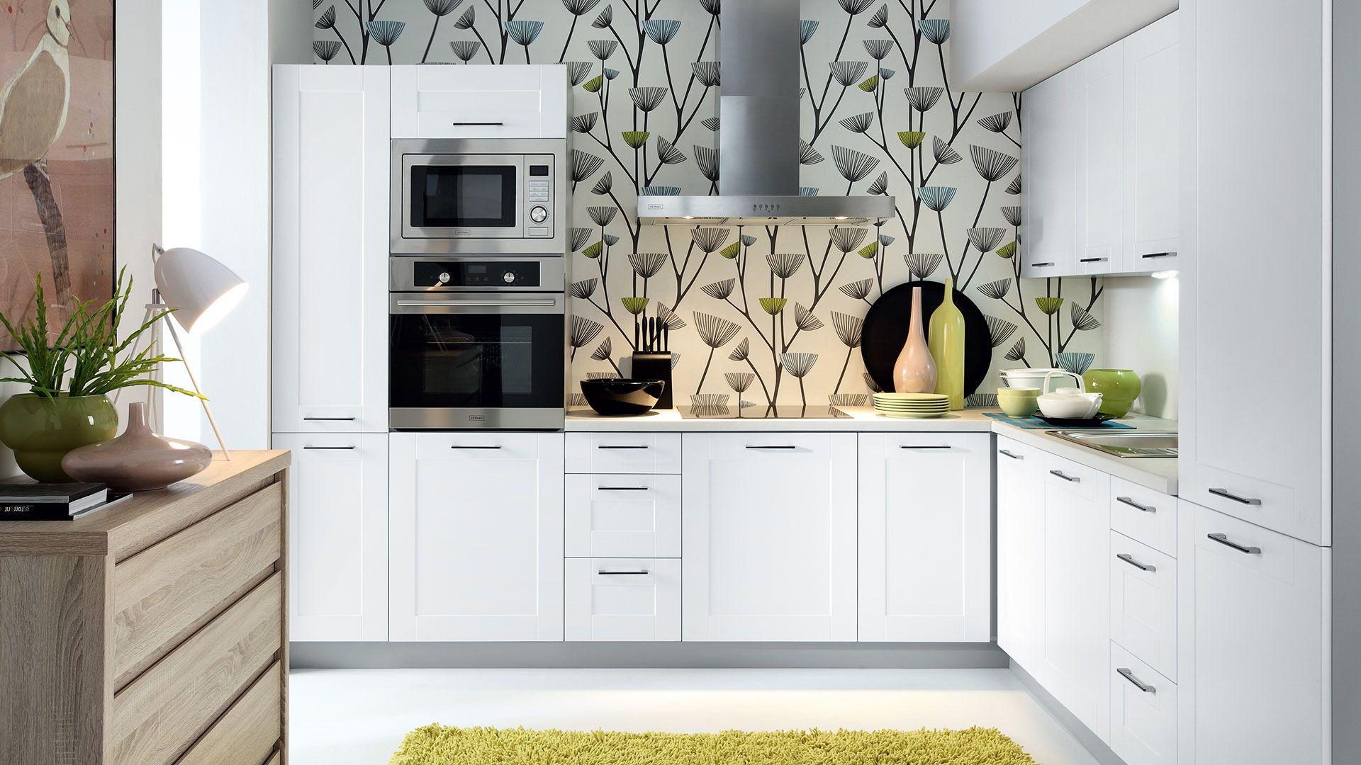 k che schr nke k chenzeile erweiterbar weiss canadian fronten neu schnell ebay. Black Bedroom Furniture Sets. Home Design Ideas