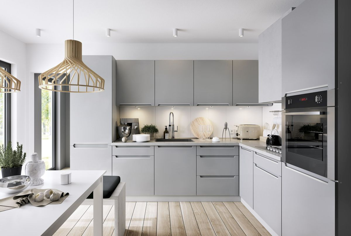 L-Form Küche, Schränke, Küchenzeile Erweiterbar Ferro