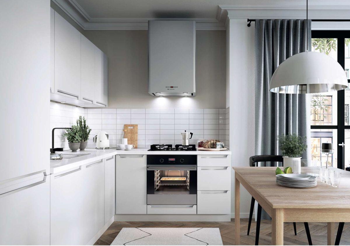 Küchenzeile MDF weiss matt Neu/&Schnell Küche 240cm Schränke