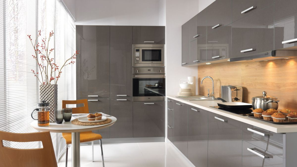 k che schr nke k chenzeile erweiterbar anthrazit mdf glanz neu schnell ebay. Black Bedroom Furniture Sets. Home Design Ideas