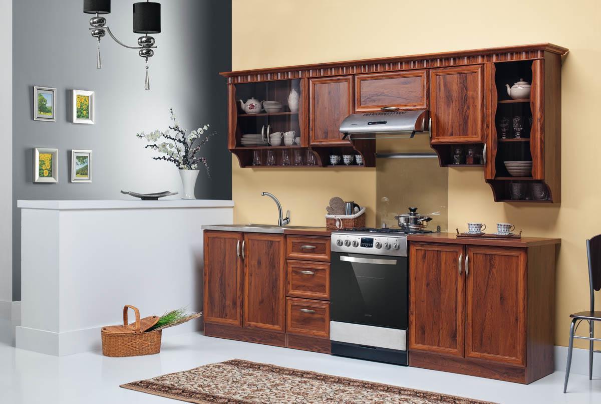 landhausstil k che k chenzeile 260 cm set neu und schnell ebay. Black Bedroom Furniture Sets. Home Design Ideas