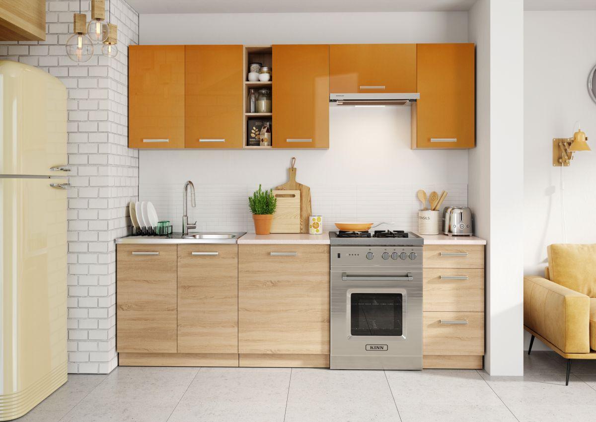 k che 240cm schr nke k chenzeile 3 fronten ausw hlbar neu schnnell ebay. Black Bedroom Furniture Sets. Home Design Ideas
