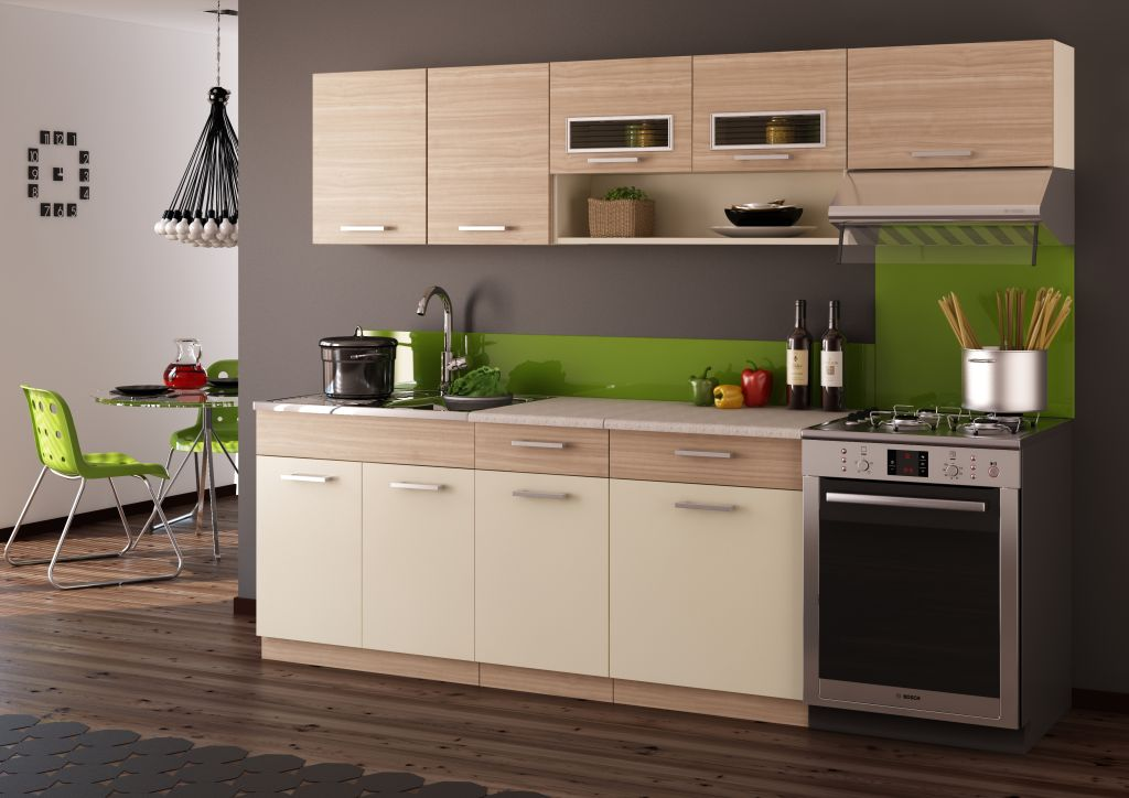 respekta küchenzeile ohne e-geräte lbkb280ww 280 cm weiß kaufen ...